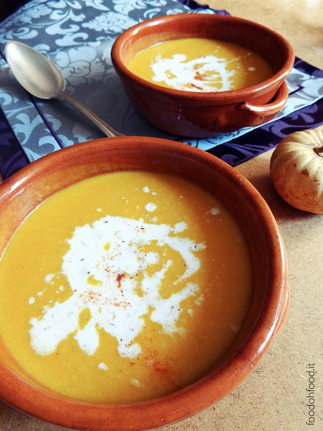 Creamy pumpkin, ginger and coconut soup