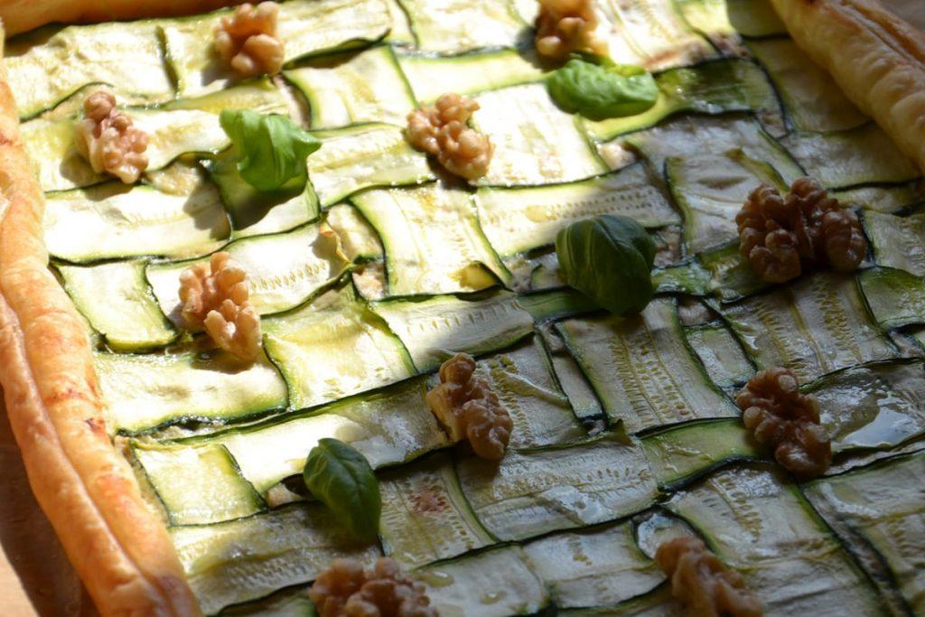 Rustico di pasta sfoglia con ricotta e zucchine