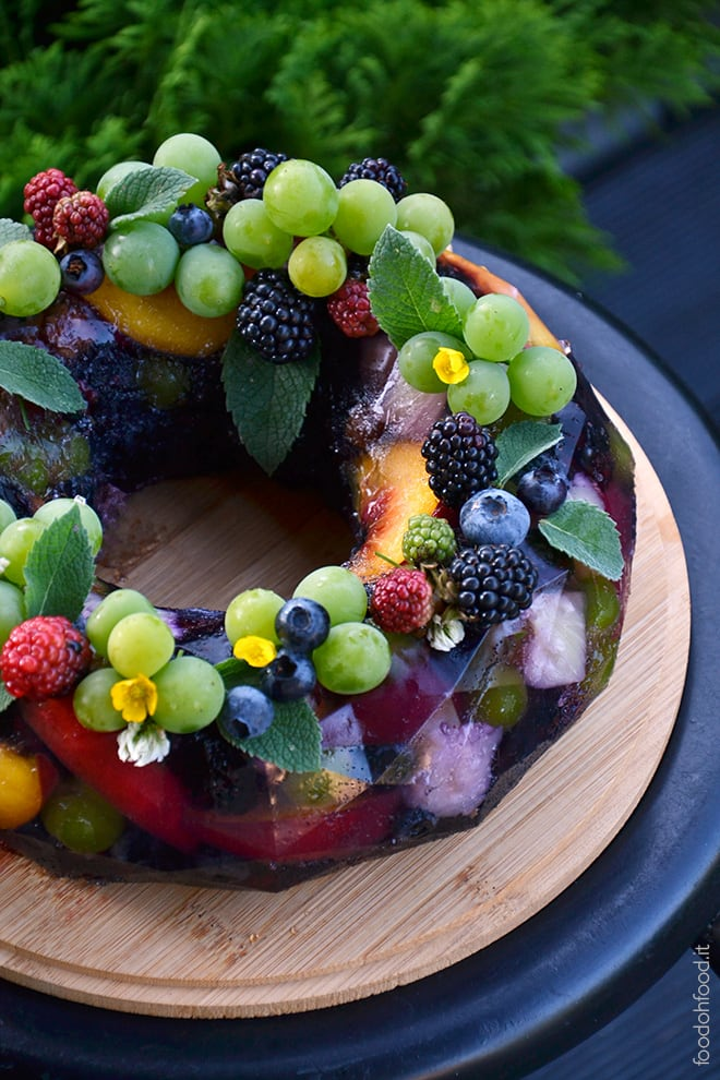 Summer fruit terrine