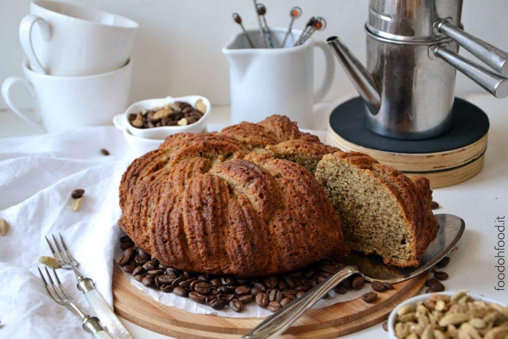 Coffee and cardamom ricotta cake