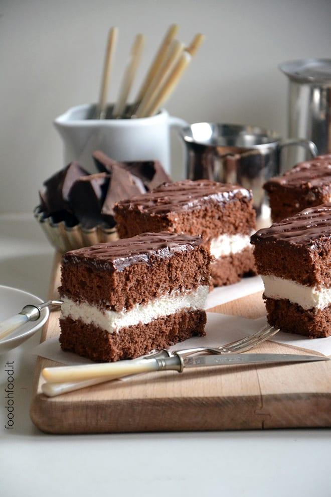 Whipped cream chocolate cake with mascarpone frosting
