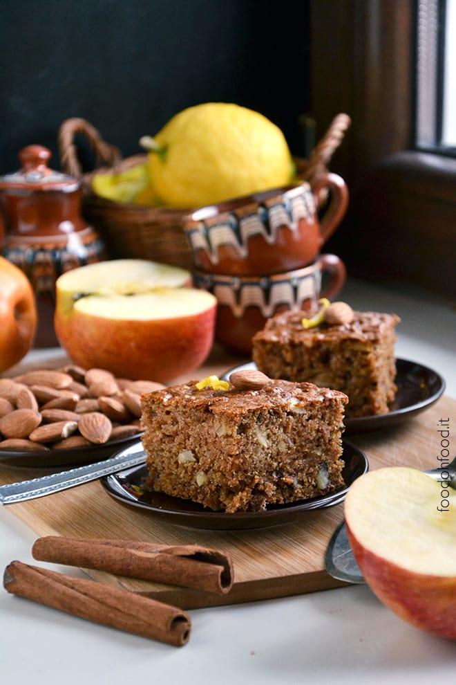 Soft apple and cinnamon sheet cake