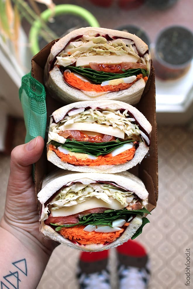 Mega vegetarian sandwich