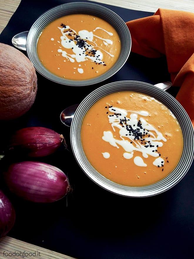 Velvety pumpkin and potatoes soup