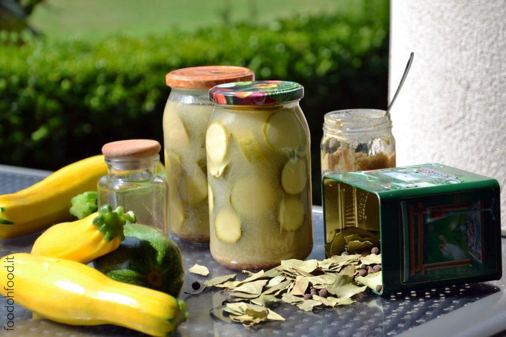 Zucchine in agrodolce con senape - ricetta della mamma
